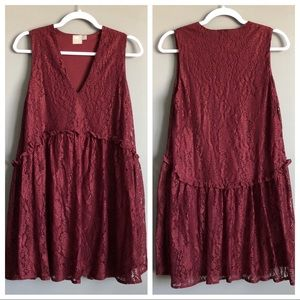 ASOS • Maroon Lace Dress